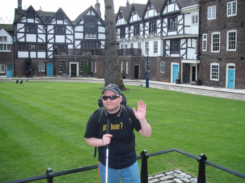 Ann Bolyn's House in the background, The Tower of London 19th April 2009