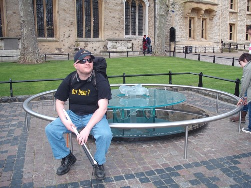 Inside the grounds of the Tower of London 19th April 2009
