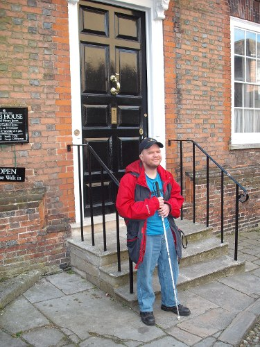 Outside Lamb House, Rye, East Sussex April 2009