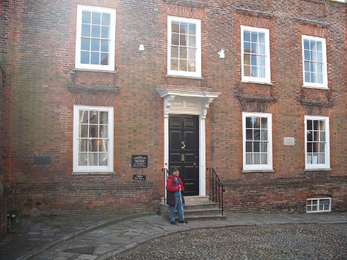 Tony outside Lamb House, Rye, East Sussex April 2009