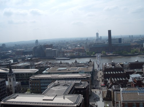 View over London from St. Paul's Cathedral 18th April 2009