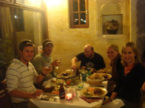 Final group steak dinner in Cappadocia
