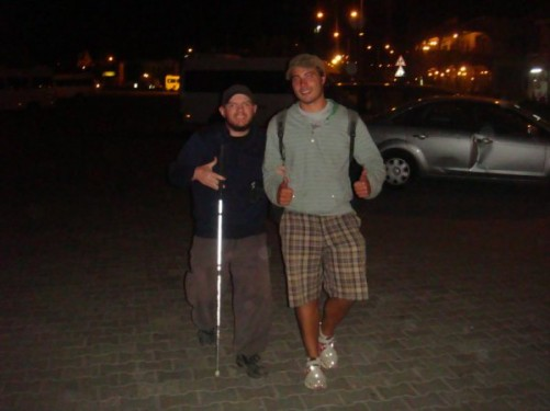 Tony and Joe from Melbourne, Australia, last night together in Göreme, Cappadocia, evening of 23rd September 2009