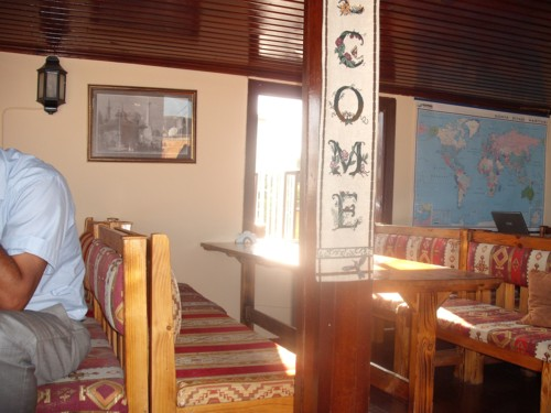 Dining room, hostel, Istanbul