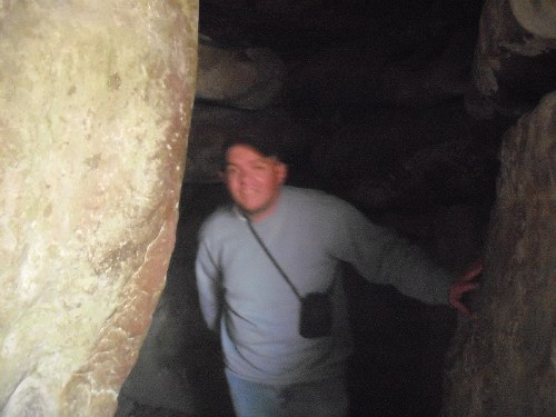 Inside West Kennet Long Barrow