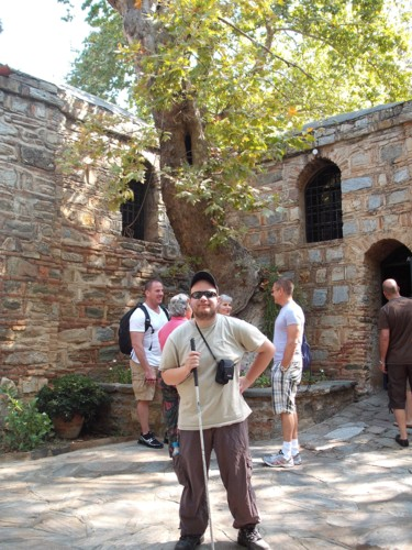 Outside the house of the Virgin Mary, Ephesus
