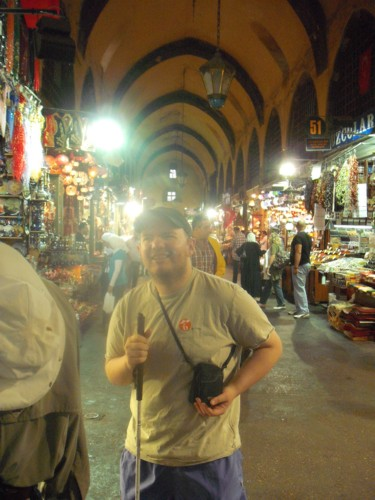 Tony in spice bazaar.