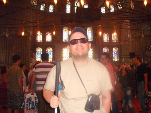 Tony inside the Blue Mosque