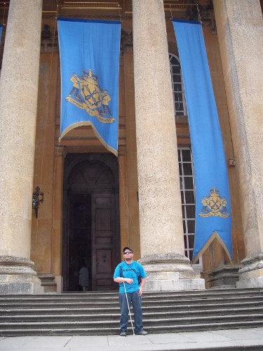 Tony outside Blenheim Palace