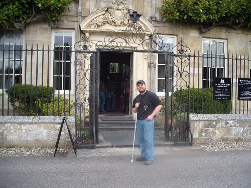 Tony outside Mompesson House, Salisbury