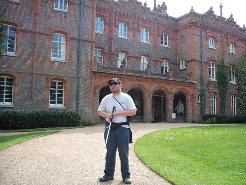 Tony outside Waddesdon Manor, May