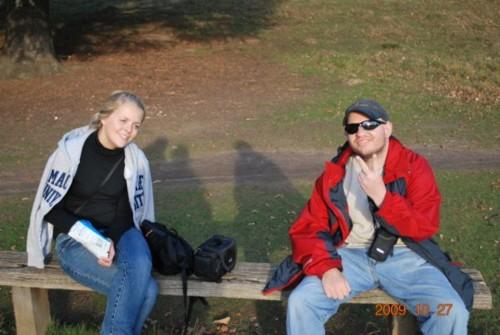 Ciara and Tony inside Richmond Park