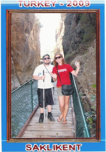 Tony and Kylie at Saklikent Gorge, Turkey