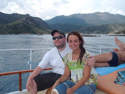 Tony and friend on the journey to Kekova