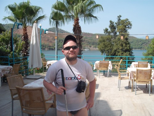 Tony at V-GO's Hostel, Fethiye, Turkey