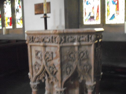 Font, Haworth Church