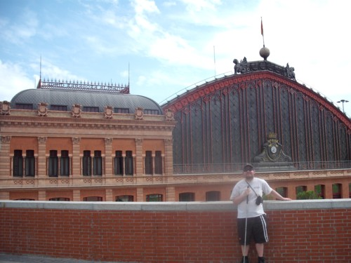 Tony in front of Atorcha Station