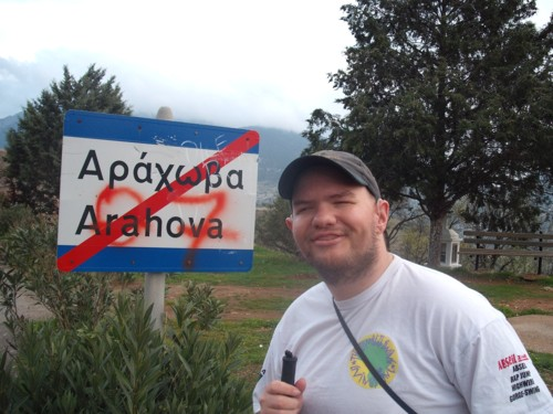 Tony in Arahova. 7th November 2009.
