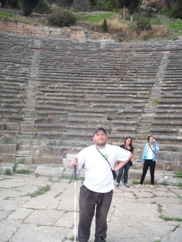 Amphitheatre, ancient Delphi, central Greece.