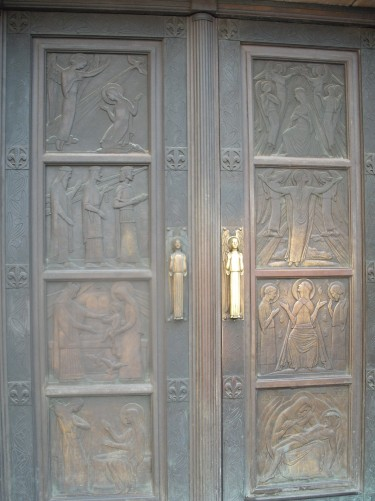 Door of Cathedral, Luxembourg