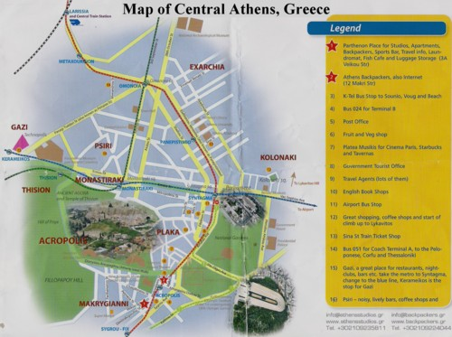 Map of Athens