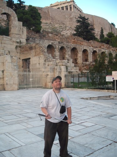 Tony near the Acropolis.
