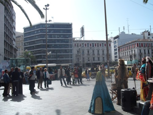 Omonia Square, Athens, Greece. 10th November 2009.