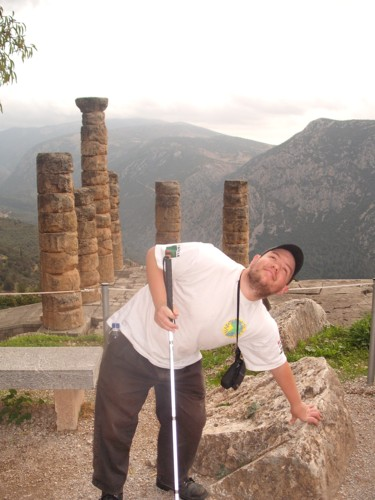 Part of the ruins at ancient Delphi.