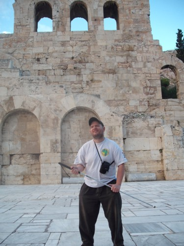 Tony near the Acropolis, Athens.