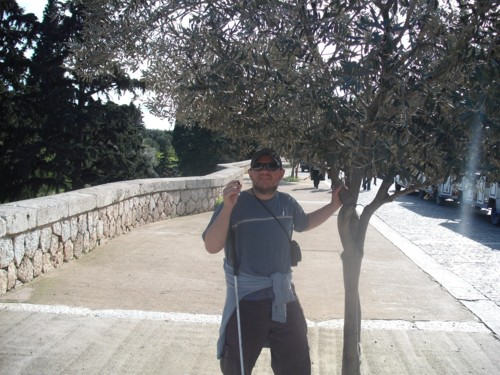 Tony on The Athens Walk, Athens, Greece. 11th November 2009.
