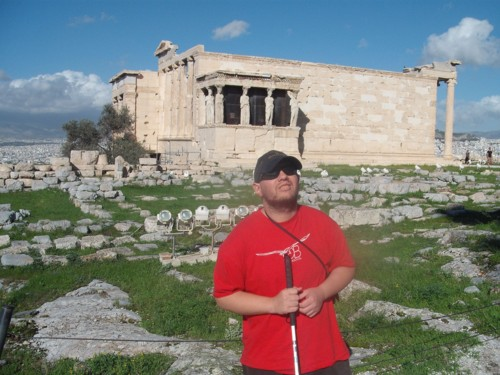 Tony outside The Erechtheum, The Acropolis, Athens, Greece