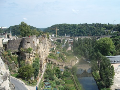 View of Lower Town, Luxembourg