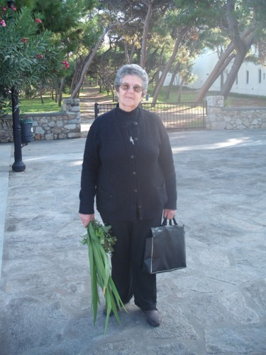 A Greek lady in Paros, Greece, 18th November 2009.