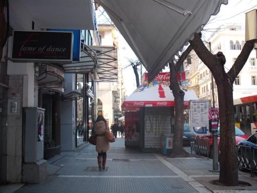 Central street, Thessaloniki.