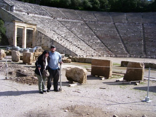 Tony and Tatiana at Epidaurus theatre