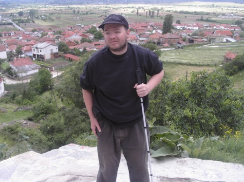 Tony near St Archangel Michael monastery, Varos village below.