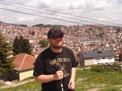 Tony with a view of Krusevo town behind him.
