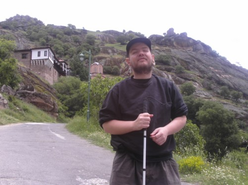 Tony on the road to St Archangel Michael monastery.