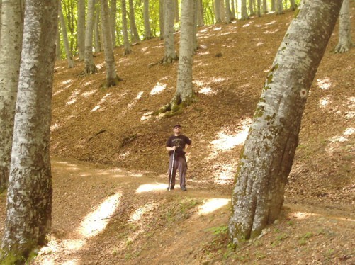 Tony in the forest, Krusevo region.