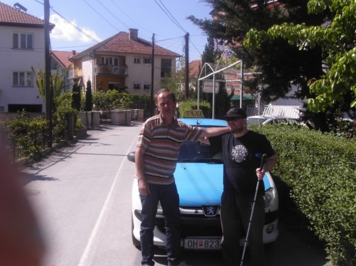 Tony with Ilija his taxi driver and guide for the day.