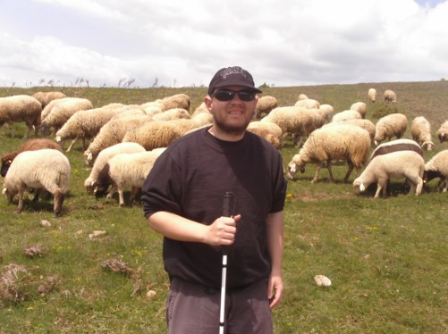 Tony and sheep.