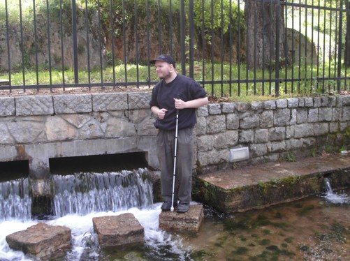Tony at Biljana springs.