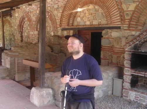 Tony at Veljusa Monastery.