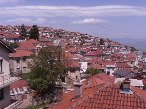 The rooftops of Krusevo.