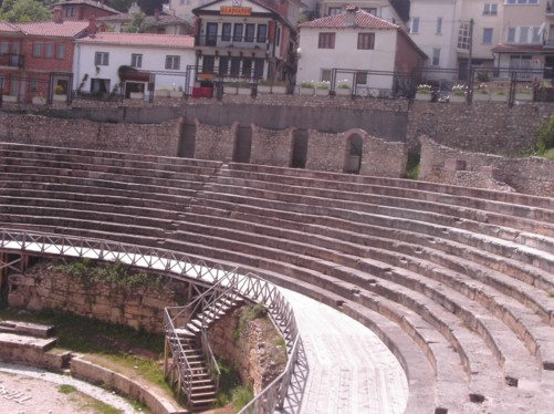 Anticki Teatar. An ancient Greek theatre of the Hellenistic period. It was built in 200 BC and is the only Greek style theatre in the Republic of Macedonia.