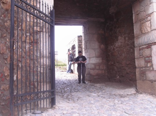 Entrance gate to King Samoil Fortress.