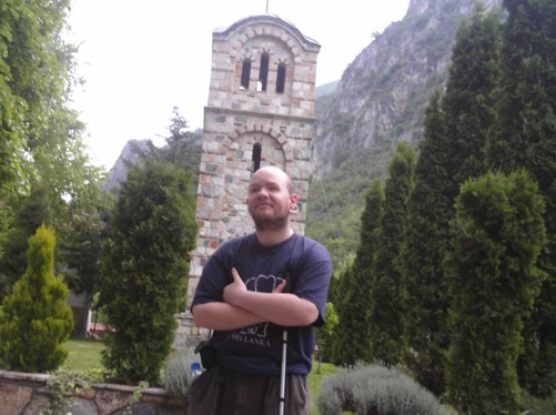 Tony at Matka Monastery