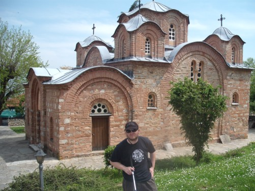 Tony at Saint Panteleimon Monastery.