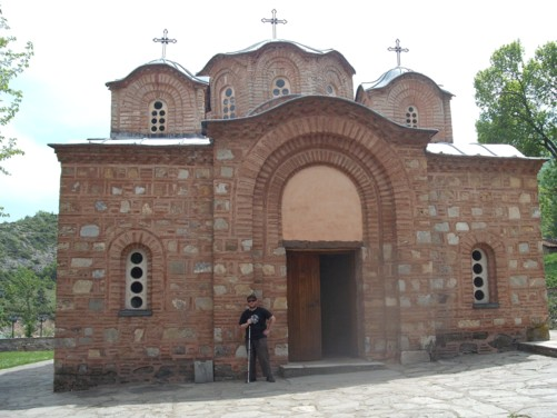 Tony at St. Panteleimon Monastery.