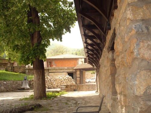 The grounds of St. Panteleimon Monastery.